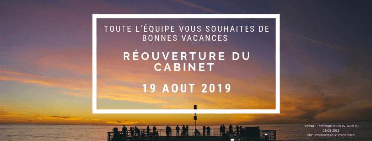 Fermeture estivale du 29 Juillet 2019 au 19 Aout 2019 - Bertholde Avocats